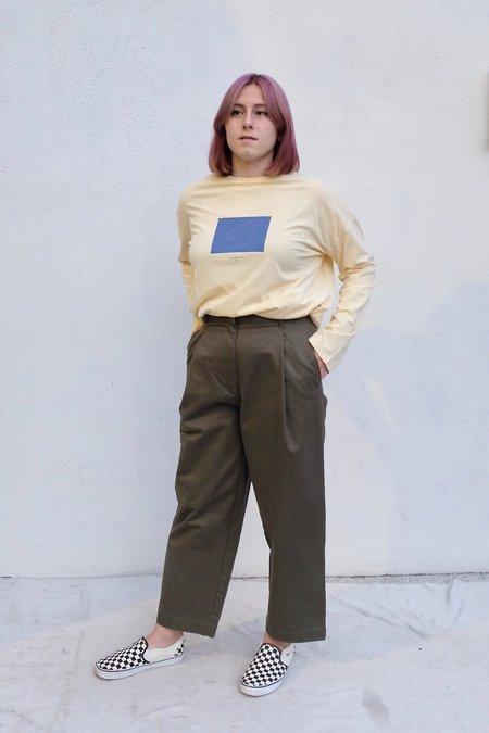 Paloma Wool Souvenir Fractal Long Sleeve - Pastel Yellow