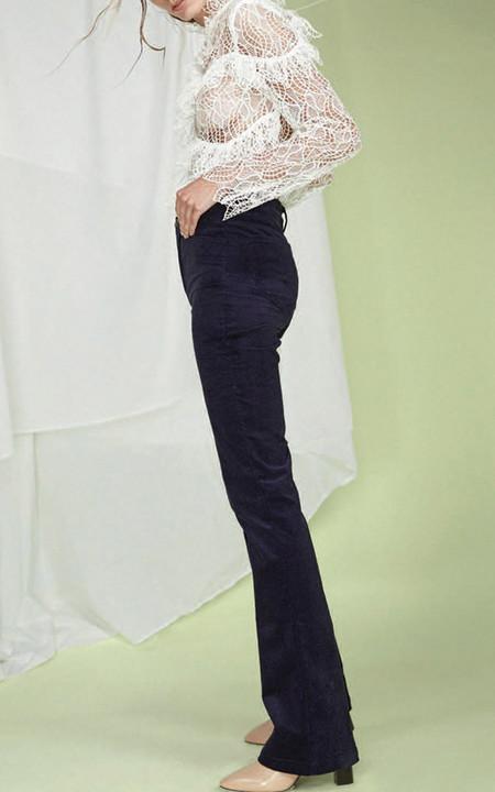 acler Elan Ruffled Lace Blouse - White
