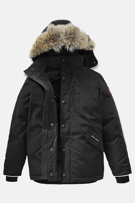 Kids Canada Goose Youth Logan Parka Jacket - Black
