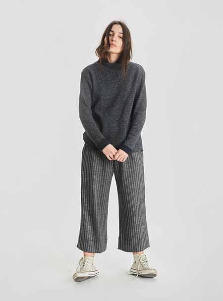 Unisex I AND ME MIXED WOOL FUNNEL NECK