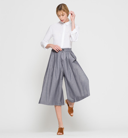 Kowtow Harbour Culottes Chambray