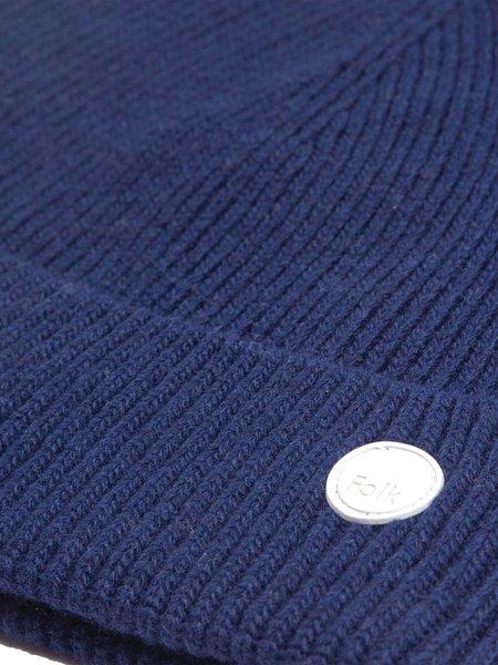 Folk Wool Cashmere Beanie - Ink