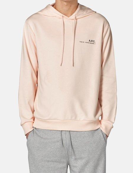 A.P.C. Item Hooded Sweatshirt - Pale Pink