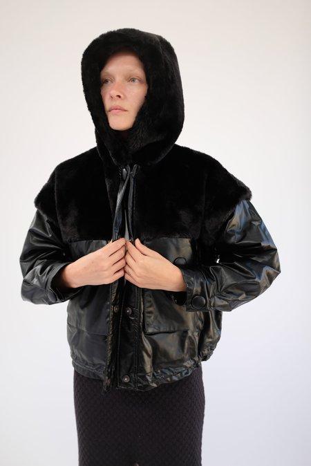 OOFWear Vegan Leather Jacket - Black