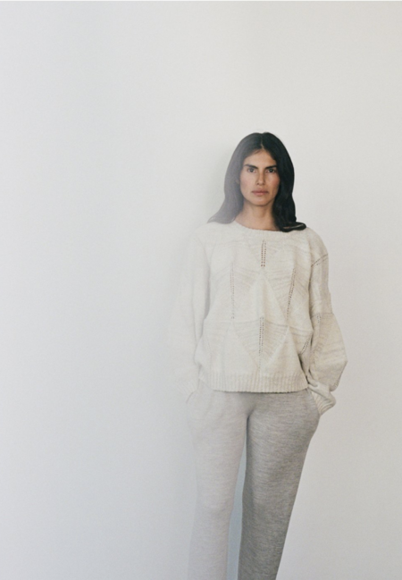 Wol Hide Shell Pullover Sweater - Cloud