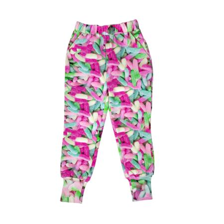 kids unisex Romey Loves Lulu Sour Gummy Worms Sweatpants - pink
