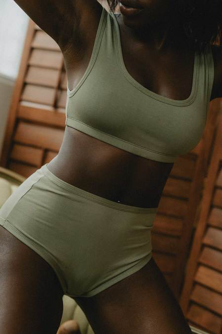 Mary Young Orly High Brief - Sage