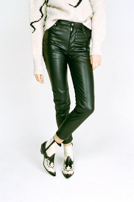 ECKHAUS LATTA  Faux Leather El Jean