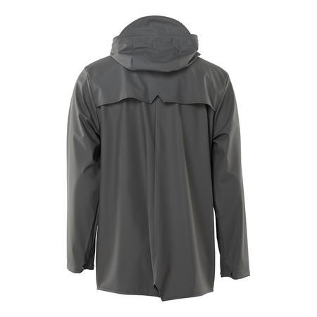 Unisex Rains Short Hooded Popper Jacket - Charcoal