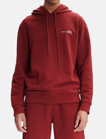 A.P.C. Item Hooded Sweatshirt - Dark Red
