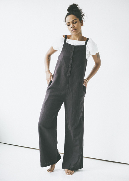 Lacausa Patch Jumpsuit in Tar