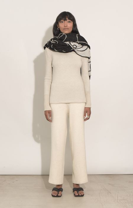 Eleven Six Knits HUMANITY SCARF - BLACK/IVORY COMBO