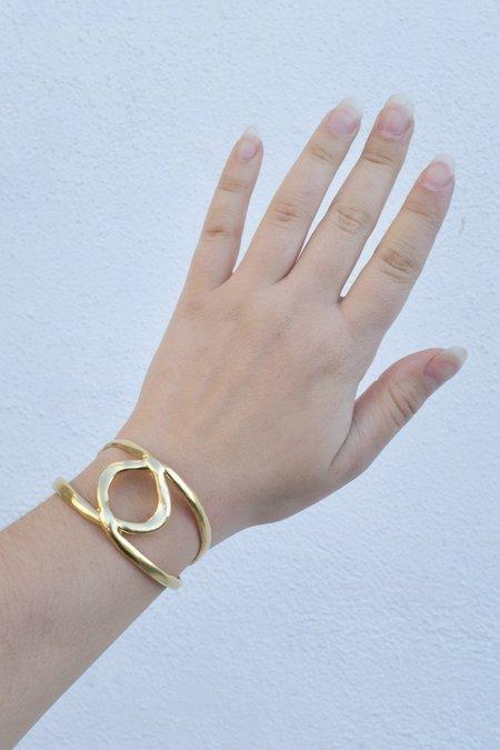 Mercurial Studio Double Loop Cuff -  Gold Plate