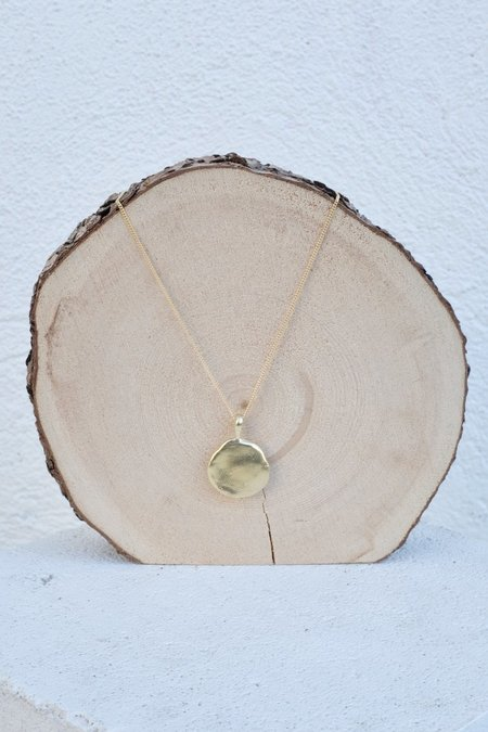 Mercurial Studio Petra Medallion Chain -  Gold Plate