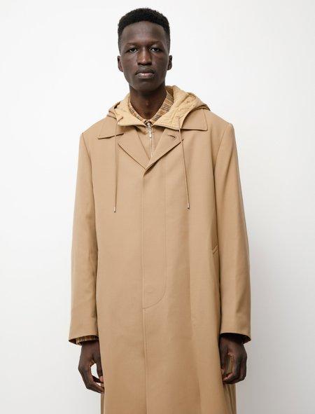 Auralee Light Wool Max Gabardine Liner Coat - Beige