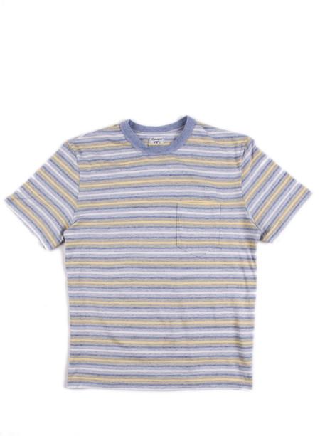 Homespun Dad's Pocket Tee 40's Stripe Jersey Blue