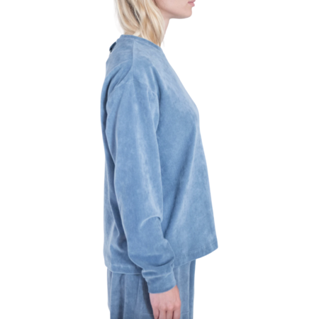 Tibi Corduroy Long Sleeve Tee - Grey
