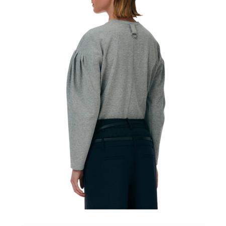 Tibi Milano Puff Sleeve Sweatshirt - Heather Grey