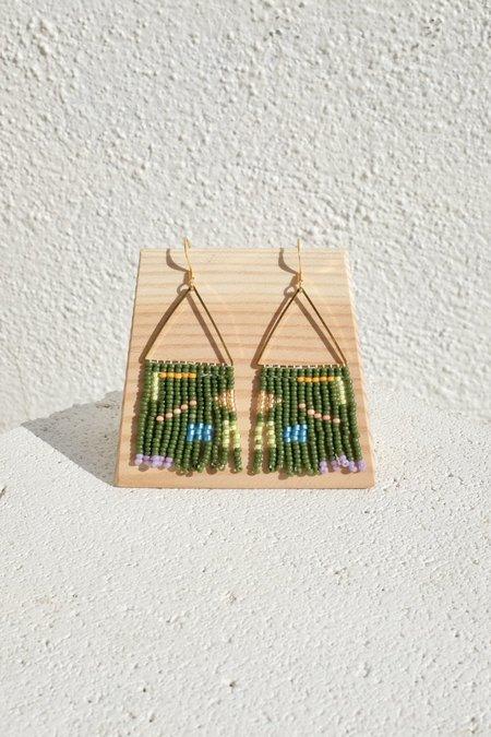 bead n butter Zacharie earring - Forest Green