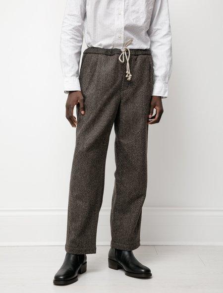 Frank Leder Drawstring Wool Trouser - Gray