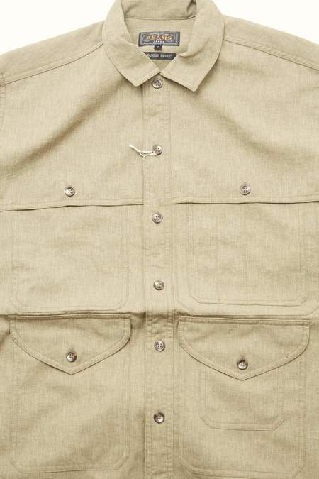 Beams Plus Adventure Shirt Mole Twill PE - KHAKI