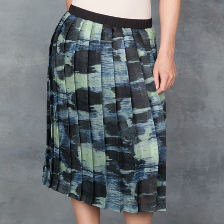 Cory Alicia Pleated Skirt Water Color Printed on Silk