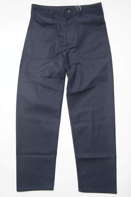 Engineered Garments Cotton Reverse Sateen Workaday Utility Pant - Dark Navy