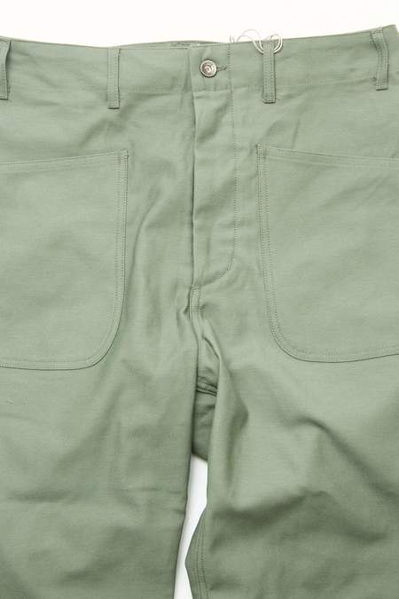 Engineered Garments  Cotton Reverse Sateen Workaday Utility Pant - Olive