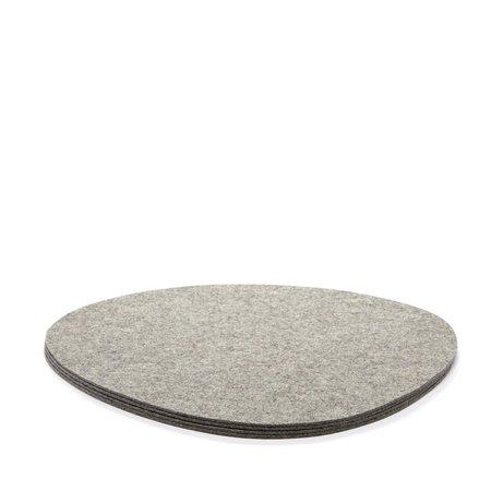 Graf Lantz 4 Pack Placemat Felt - Granite