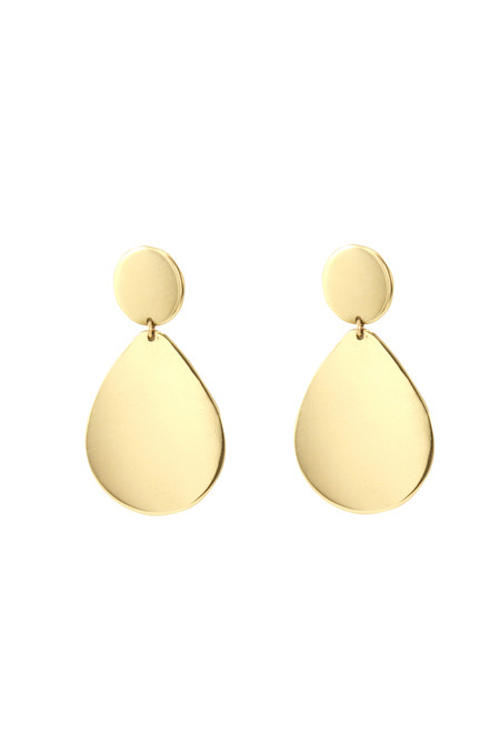 Young Frankk Teardrop Earrings, Gold Plated