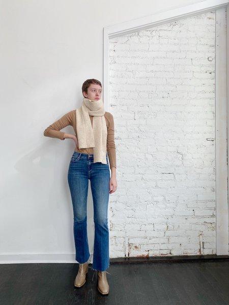 Lauren Manoogian Plat Scarf - Ecru Slub