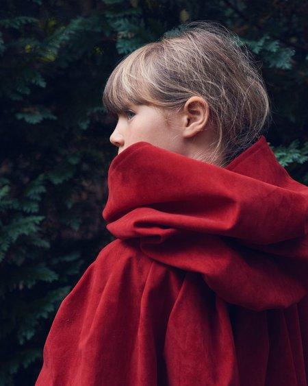 Kids Caramel Riding Hood Cape - Red