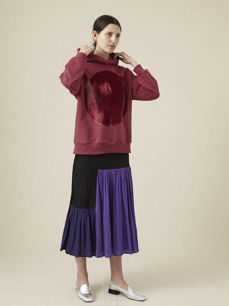 UNISEX Correll Correll Velvet Circle Hoodie sweater - Fuchsia