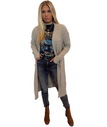 Lola Heather Long Cardigan - Taupe