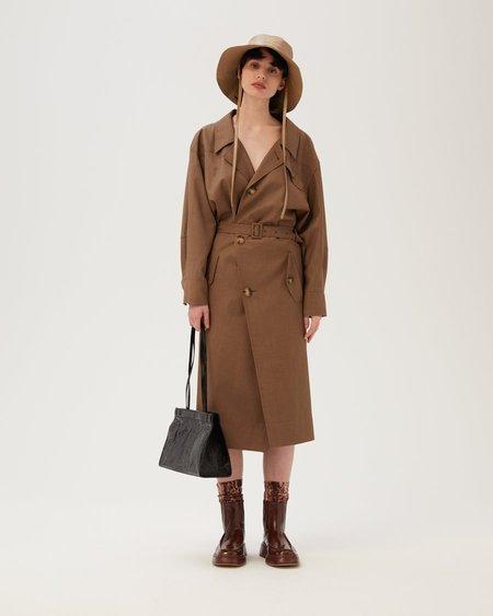 Rejina Pyo Conie Wool Blend Suiting Dress