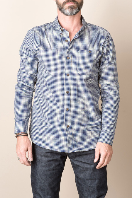 Freenote Cloth Indigo Gingham In Navy Check