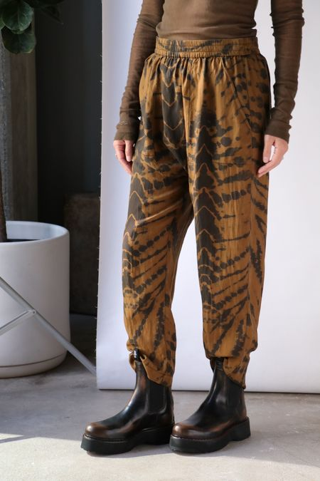 Raquel Allegra Sunday Pant - Forest Butterfly