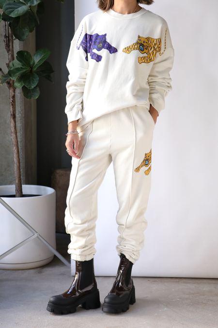 Raquel Allegra Tuxedo Tracker Pant - White Tiger