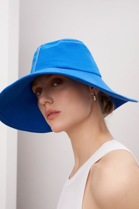 Kowtow Parasol Hat - Workwear Blue Denim