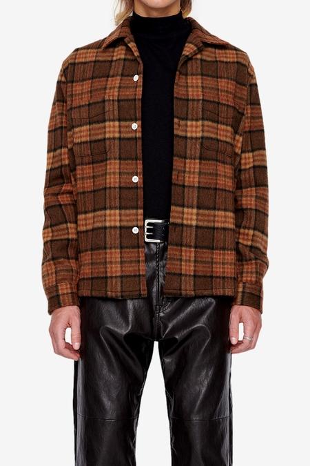 Our Legacy Heusen Shirt - Fox Brown Check