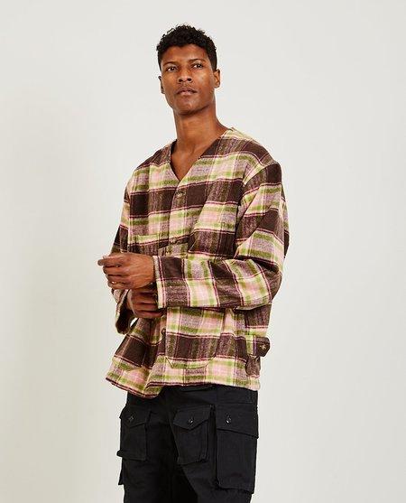 Engineered Garments Cardigan Jacket - Brown/Pink