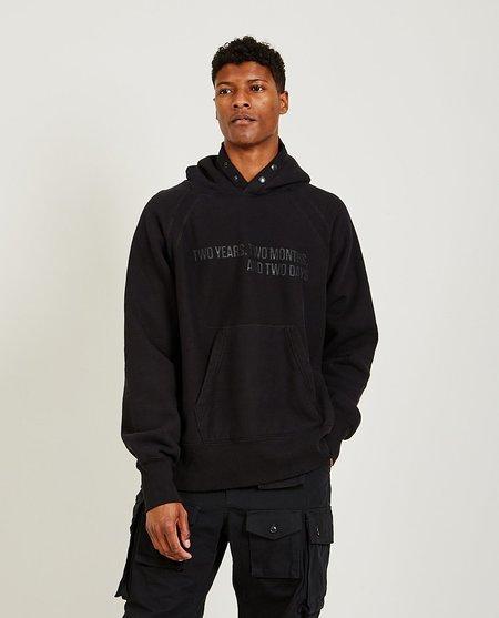 Engineered Garments Printed Raglan Hoody - Black