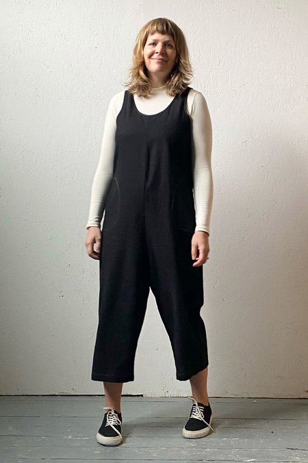 North Of West Recycled Linen Jumpsuit - Black