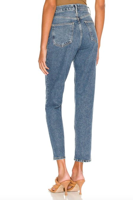 Fen High Rise Relaxed Taper-Blue