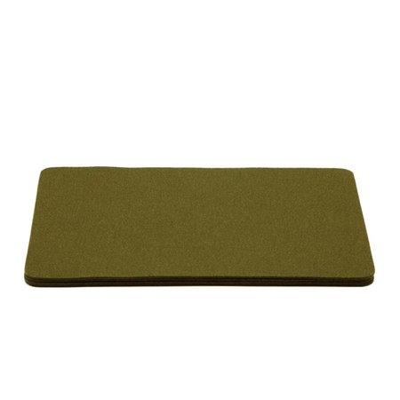 Graf Lantz 4 Pack FELT Rectangle Placemat - Moss