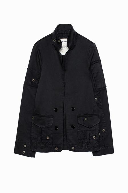 Zadig & Voltaire Virginia Grunge Cotton Jacket - Noir