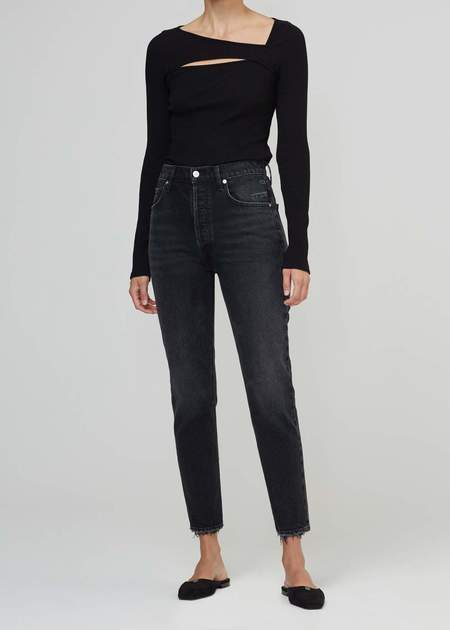 Citizens of Humanity Jolene High Rise Straight - Washed black