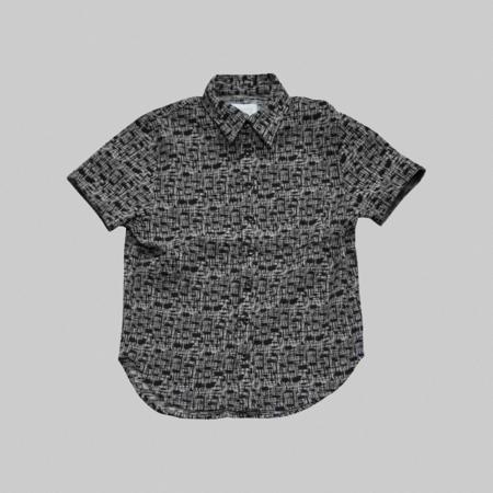 Reborn Garments Sand Tweed Shortsleeve - black
