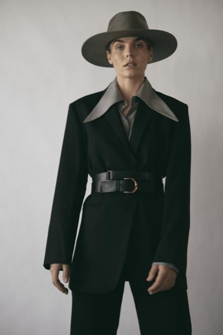 Janessa Leone Cole Hat - Taupe Grey