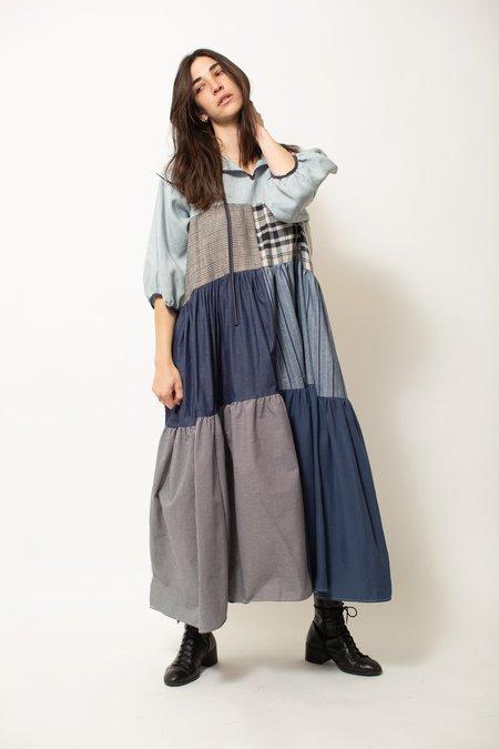 LA RÉUNION Sleeved Patchwork Dress No.3